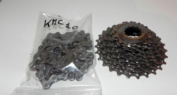 Shimano - pignoni Shimano 12-28 con catena KMC