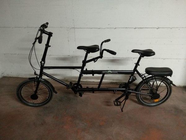 """altra - Bicicletta Tandem Pieghevole Ecosmo 50,80 cm (20"""") da città 7SP 20TF01BL"""