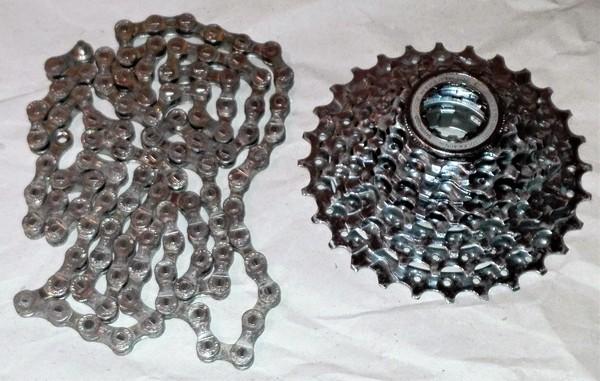Shimano - pacco pignoni XT e catena XTR 8v