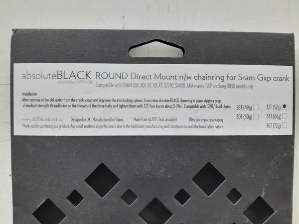 altra - Absolute Black Sram GXP Direct Mount da 32 denti