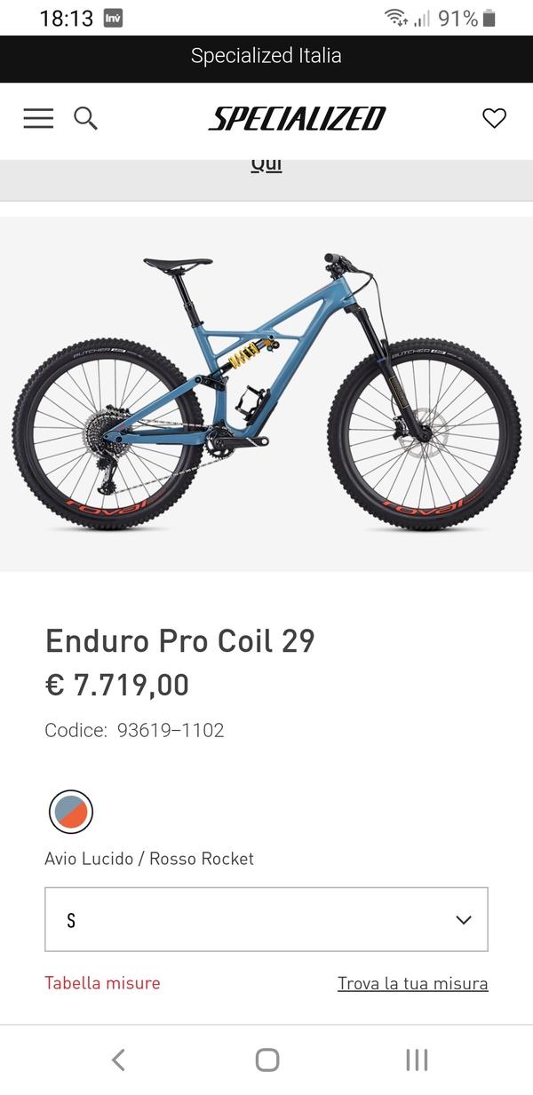 Specialized - ENDURO PRO COIL 29  TAGLIA L