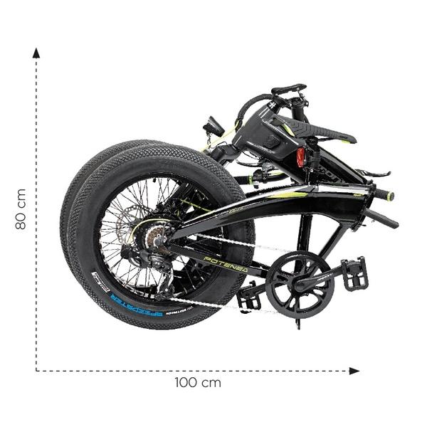 """altra - Armony E-Bike Bici Pieghevole Potenza 6V 20"""" Grigio/Nero"""