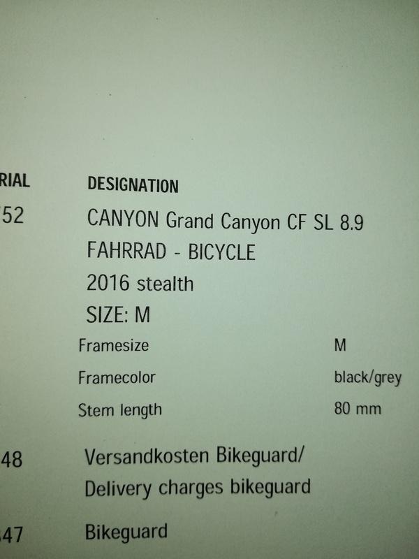 Canyon - Grand canyon cf sl 8.9